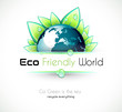 Ecology green background for eco friendly covers