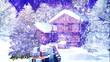 Christmas Snowy Scene 3D animation