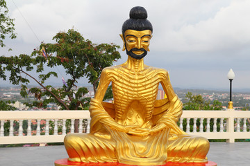 Sculpture of fasting Buddha in thailand
