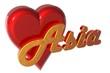 3D Herz - Asia