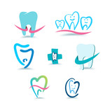 Dental icons. Stomatology.