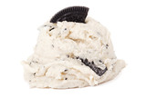 cookies and cream ice cream on white