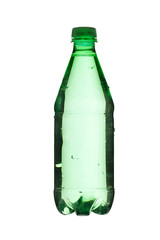 green bottle with water