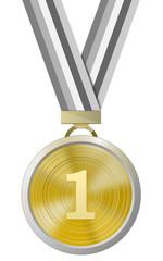 Medaillie 1. Platz mit Band