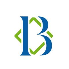 Logo initial letter B # Vector