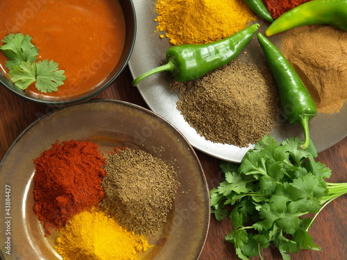 Indian spices and dip