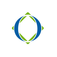 Logo initial letter O, 0 # Vector