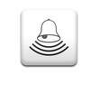 Boton cuadrado blanco simbolo alarma