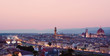 Florence city view in the evening