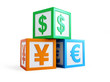 business preschool alphabet cube finance sign