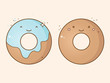 Two smiling donuts