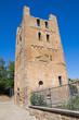 St. Maria Maggiore Belltower Basilica. Tuscania. Lazio. Italy.