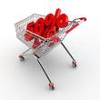 Einkaufswagen mit Prozenten