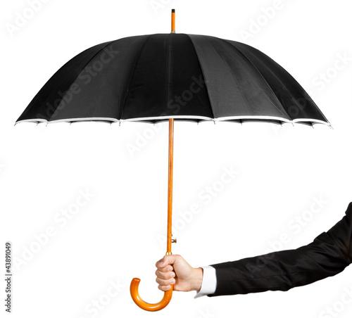 Hand with umbrella