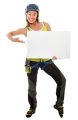 free climbing indoor studio with white board