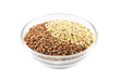 buckwheat, raw and toasted