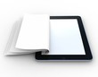 Business paper on tablet