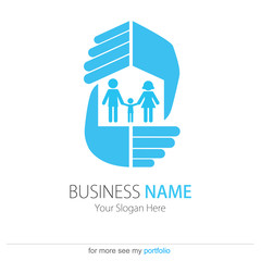 Company (Business) Logo Design, Vector, Peoples,Family,Hands