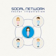 illustration of social networks