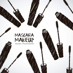 mascara illustration