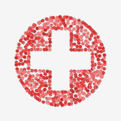 First aid medical button sign made by Paper Punches