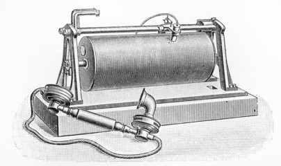 Vintage telegraph phone from year 1900