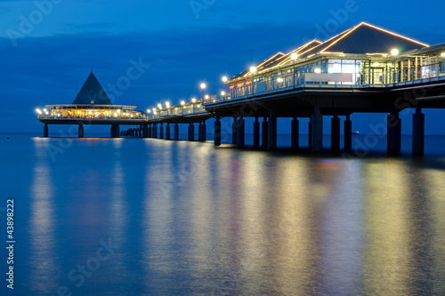 A pier on Usedom island after sunset