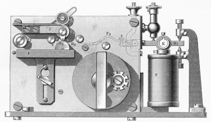 Vintage  Normal ink recorders , Morse operation