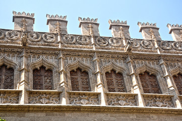 Valencia, Lonja de la Seda, arcos conopiales, arte gótico
