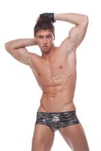 Muscular sexy nagi facet w bieliźnie