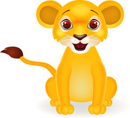 Funny baby lion cartoon