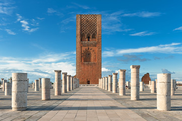 Tour Hassan tower square in Rabat Morocco