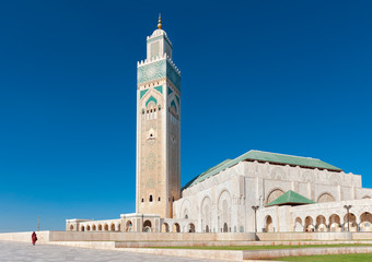 Hassan II Mosque Casablanca Morocco side view