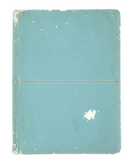old book cover isolated on a white background