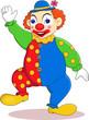 Funny clown cartoon