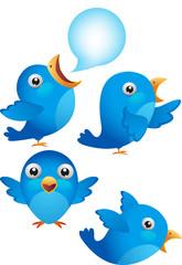 blue bird cartoon character