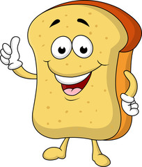 Slice of bread cartoon character