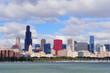 Chicago skyline over Lake Michigan
