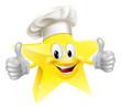 Star chef mascot