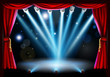 Centre stage background illustration