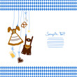 Octoberfest Symbols & Pattern Blue/White/Brown