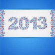 Card with Abstract pattern sign 2013. Vector