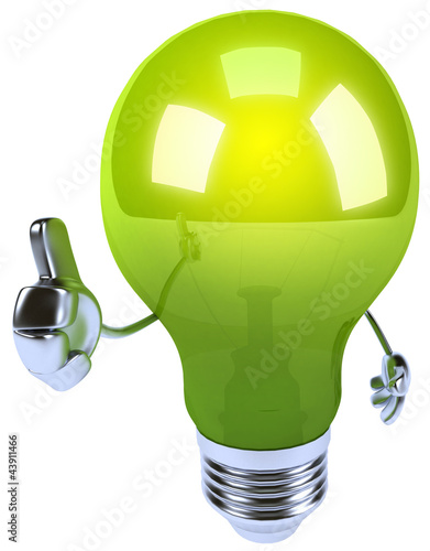 Green lightbulb