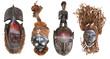 Fototapeten,maske,skulptur,afrikanisch,alt