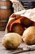 Potatoes in a brown paper bag