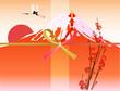 巳 赤富士 富士山 熨斗 水引