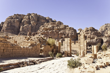 monumental gate at petra, jordan