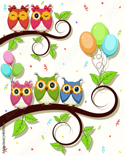 Beautiful vector card with Happy Birthday