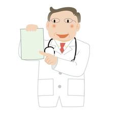 カルテを見せる医師