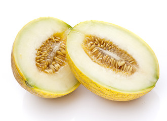 Yellow Melon Halves